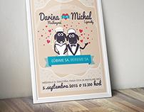 D+M [wedding notice]
