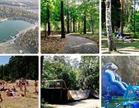 South Lake recreation area in Chernogolovka