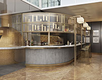 Restaurant Design. 3D Rendering