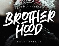 BROTHERHOOD BRUSH MARKER - FREE FONT