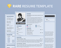 Free PSD Resume Template 2018, 4 in 1 Styles