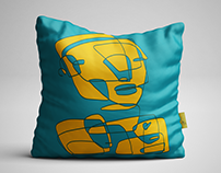 Space invaders - pillow design