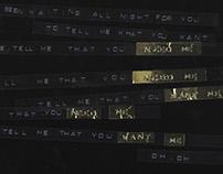 Waiting All Night - Rudimental : Song Lyric Typography