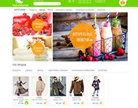 Дизайн сайта интернет-магазина NaturMarket