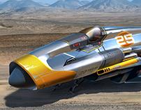 Anti gravity Jet Fighter illustration 2018