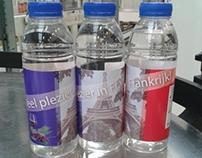 Etiketten waterflesjes