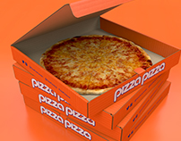 3D visualisation - Pizza Box CA