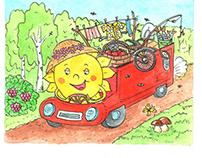 """Иллюстрация """"Ехало лето"""", illustration Summer rides"""