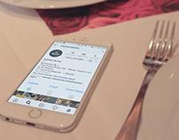 Social Media - empresa de alimentação.
