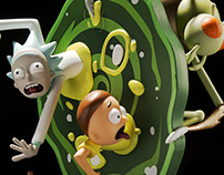 Kidrobot - Rick and Morty Medium Figure