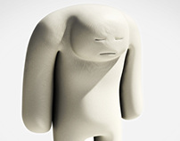 Sad White Monster
