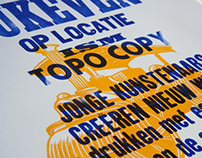 Letterpress poster. Steamroller printing event.