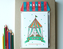 2013 illustrated Circus Calendar
