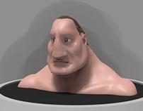 Character design | Cartoony head sculpt