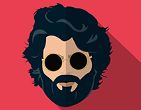 Arjun reddy - Flat Design