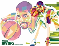 Kyrie Irving - WPAP Illustration