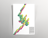 Isometric Typography Posters Design