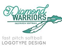 Fast Pitch Softball Logotype Design