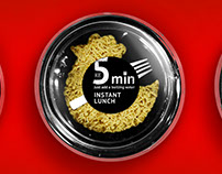 5 min! The concept of packaging for the instant lunch.