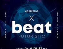 X Beat - Futuristic PSD Flyer Template