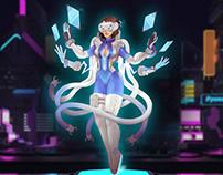 Cyberpunk game character design