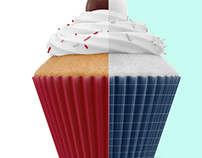 Cupcake mockup. Product place.