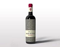 Free Stylish Wine bottle mockup