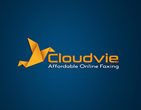 Cloudvie logo, business card and letter head