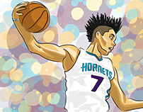 Charlotte Hornets Illustrations