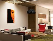 Interior design of flat + my digital illustrations