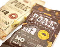 The Real Pork Crackling Company Packaging