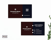 Free Creative Modern Dark Business Card Template