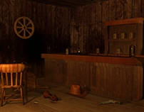 3D Composition Old West Saloon