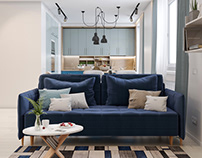 Scandinavian style interior for a young family