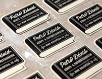 Dávid Petró book & paper restorer corporate identity