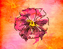 Flowers art paint