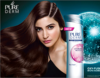 Advertising for Pure Derm Shampoo