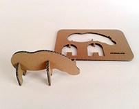 Zabawki z kartonu - Hipopotam / Cardboard toys – Hipo