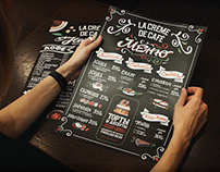 Handlettering menus for coffee house