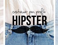 Diagramação & pesquisa | Costumer pen profile: Hipster