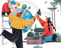 Love the Earth: Digital Illustration Set