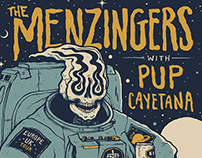 The Menzingers EU/UK tour poster