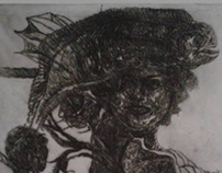 """Playful/""""Ludic"""",Cold needle engraving"""