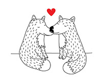 Valentines promotion illustration for accessory brand