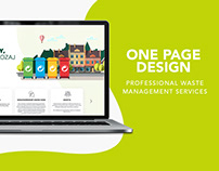 One page design waste management services