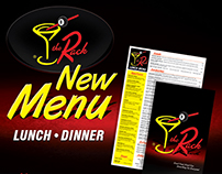 The Rack Restaurant Menu Redesign & Ads