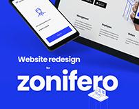 Website redesign for zonifero