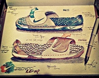 conceptual footwear sketch I lovingly did for Nike...
