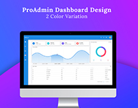 ProAdmin Dashboard UI Design (2 Color Variation)