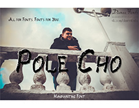 Pole Cho handwriting font
